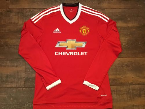 2015 2016 Manchester United L/s Home Football Shirt Small